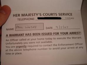 Polite Warrant Has Been Issues