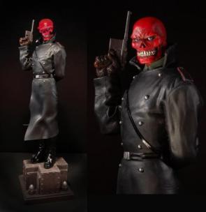 Red Skull Statue