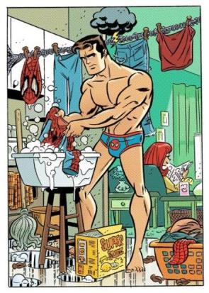 Spider-man's Laundry Day
