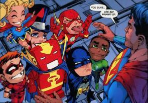 Superman and the Chibi JLA