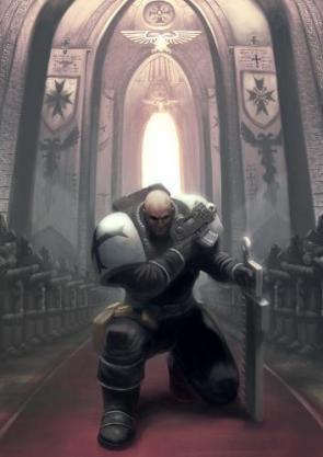 Warhammer 40 – Space marine kneel