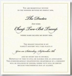 Bitter wedding invitation