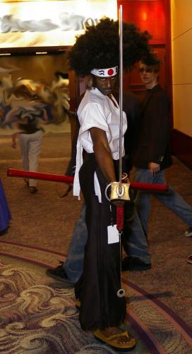 afto samurai cosplayer