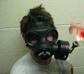 Gas Mask Smoker