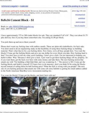 Cement Block $1