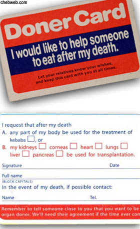 Cannibal Donor Card