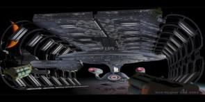 Enterprise D in spacedock