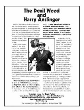 The Devil Weed and Harry Anslinger