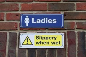 ladies – slippery when wet