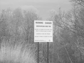 Underground Mine Fire Warning Sign