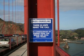 Bridge Suicide Sign