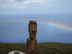 Easter Island Head Rainbow Wallpaper