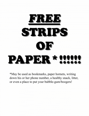 Free Strips of Paper!