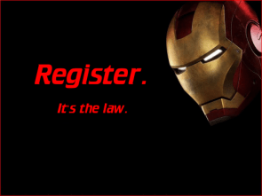 Iron Man Says – Register.  It's the Law