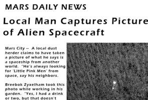 Local man Captures Picture of Alien Spacecraft