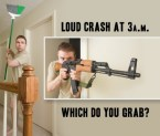 Loud Crash at 3am – Which Do You Grab?