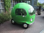 Round green car