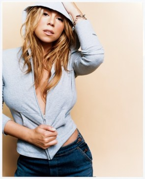 mariah carey – barely constrained blue top