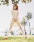 Alyson Hannigan – See Through Yellow Dress