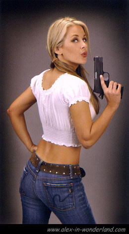 Blond With Pistol