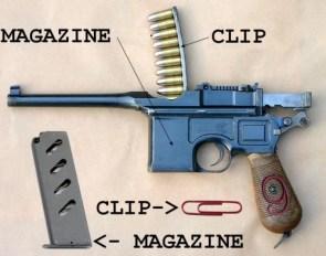 clip vs magazine gun