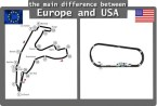 difference between usa europe racing