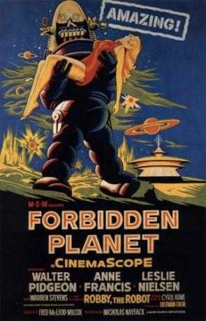 forbidden planet – movie poster