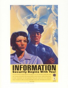 information security poster by the NSA