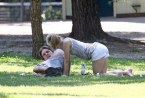 Kristen Bell at the park