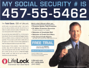 Life Lock Advertisement
