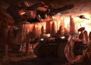 space marine tank and landing craft