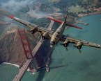 stratofortress over golden gate bridge