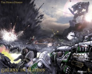 Warhammer 40k – The Horus Heresy – Galaxy in Flames Wallpaper