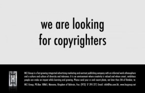we are looking for copyrighters