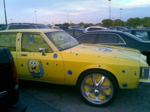 yellow ghetto car – sponge bob