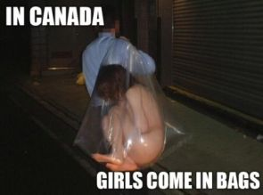 in canada girls come in bags