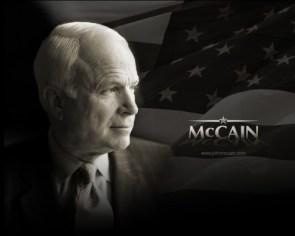 McCain – Black and White Wallpaper