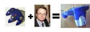 Michael J Fox + N64 Controller = Rumblepack