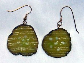 pickle earrings