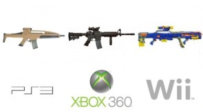 ps3 vs xbox 360 vs wii – guns