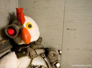 Robot Chicken In The Corner