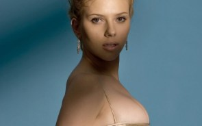 scarlett johansson – blue background