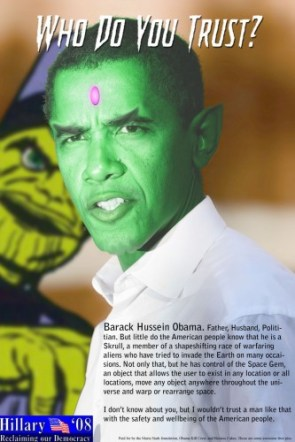 Barack Hussein Obama is a skrull