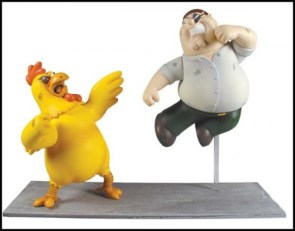 Chicken vs Peter figures