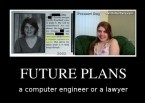 Future plans – computer engineer or a lawyer