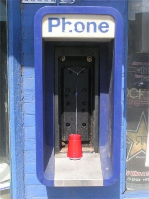 Public Cup and String Phone