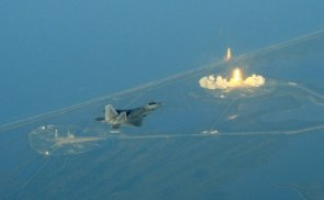Shuttle Launch as seen by fighter jets