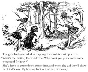 Evolutionist Up A Tree