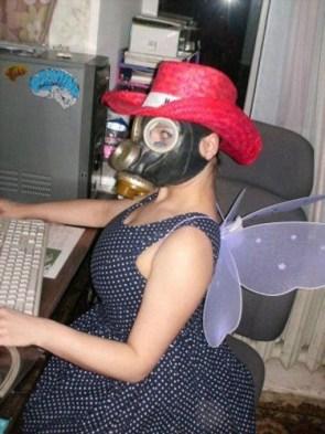 Gas Mask Web Surfer