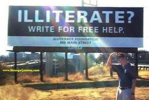 Illiterate – write for help